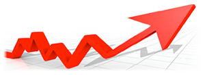 Red Arrow signifying growth