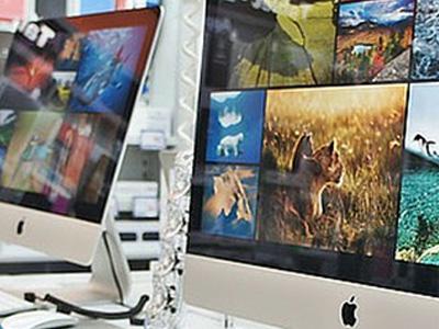 apple desktop computer retail display