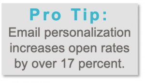 Pro Tip: Email Personalization